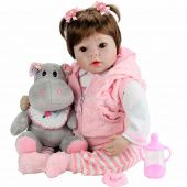 Кукла Aori Reborn Baby Doll Pink cow