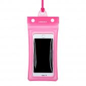 Чехол водонепроницаемый Momax Air Pouch для смартфона, розовый