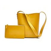 Сумка женская Xiaomi CARRY'O Light Luxury Leather Bucket Bag, желтый