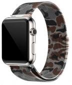 Браслет миланский для Apple Watch 42/44мм сетчатый, камуфляж бежевый