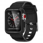 Ремешок-чехол для Apple Watch 42/44мм противоударный, черный