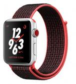 Умные часы Apple Watch Nike+ Series 3 cellular, 42mm, малиново-черный