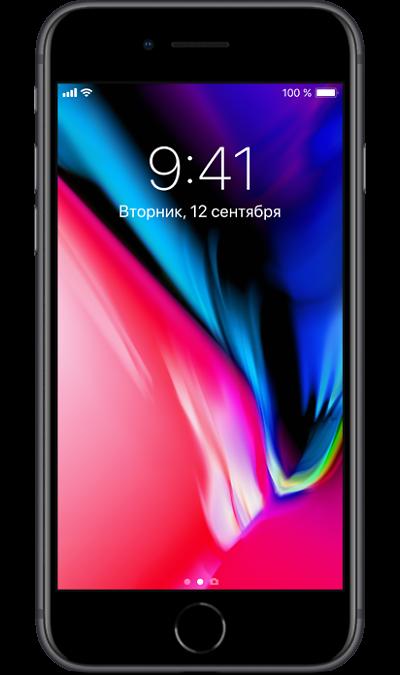 Смартфон Apple iPhone 8 64 GB, черный (Ростест)