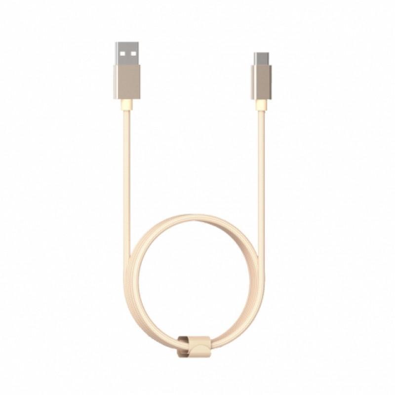 Кабель Xiaomi metal Type-C cable 1м, золотой
