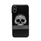 Чехол кожаный Santa Barbara для Apple iPhone X/XS, Patti, черный череп