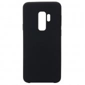 """Чехол силиконовый """"кожа"""" для Samsung S9 Plus, черный"""
