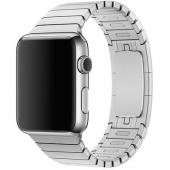 Браслет блочный металлический для Apple Watch 38/40мм, серебристый