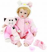 Кукла Aori Reborn Baby Doll Pink kitty