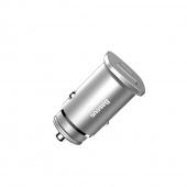 Автомобильное зарядное устройство Baseus USB 5V 4.5A, серебряный