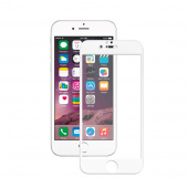 Стекло защитное для iPhone 6 5D, рамка белая