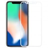 Стекло защитное для iPhone X/XS 10D, рамка белая