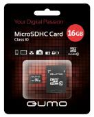 Карта памяти Qumo MicroSD 16Гб + SD адаптер ( класс 10 )