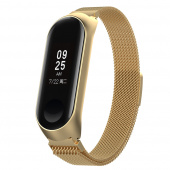Браслет для Xiaomi Mi Band 3, миланский сетчатый, золотой