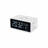 Беспроводное зарядное устройство с часами Momax Q.Clock Digital, белый