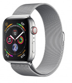 Умные часы Apple Watch Series 4 40mm (GPS + LTE) Stainless Steel Case with Milanese Loop