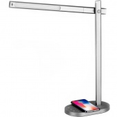 Умная лампа Momax с беспроводным зарядным устройством, серебристый