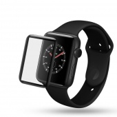 Стекло защитное для Apple Watch 38mm 3D, рамка черная