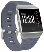 Умные часы Fitbit Ionic серебристый корпус,синий ремешок