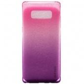 Чехол силиконовый градиент для Samsung Note 8, розово-фиолетовый
