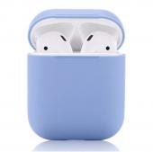 Чехол силиконовый для AirPods, голубой