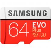 Карта памяти Samsung microSD 64Гб + SD адаптер ( класс 10 )