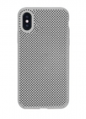 Чехол для iPhone X сетчатый, чёрный