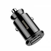 Автомобильное зарядное устройство Baseus USB 5V 3.1A, черный