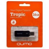 Флеш накопитель USB 16 ГБ Qumo Tropic, черный