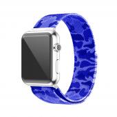 Браслет миланский для Apple Watch 42/44мм сетчатый, камуфляж синий