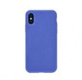 Чехол для iPhone X/XS сетчатый, синий