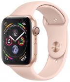 Умные часы Apple Watch Series 4, 40 мм, корпус из золотистого алюминия+ремешок «розовый песок»