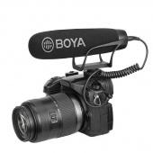Супер-кардиоидный микрофон Boya BY-BM2021 для фото, видеокамер, диктофонов и смартфонов. 3,5 мм  TRR