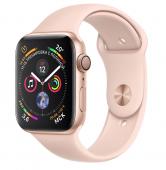 Умные часы Apple Watch Series 4, 44 мм, корпус из золотистого алюминия+ремешок «розовый песок»