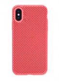 Чехол для iPhone X сетчатый, красный