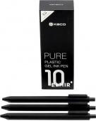 Набор гелевых ручек Kaco Pure Pen (10шт), черный
