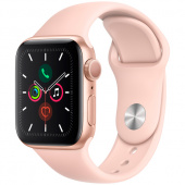 Часы Apple Watch Series 5 GPS 40mm Aluminum Case with Sport Band розовый песок