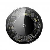 Беспроводное зарядное устройство Baseus Simple Wireless Charger, прозрачное стекло