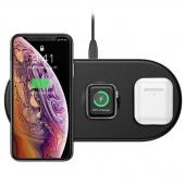 Беспроводное зарядное устройство тройное Baseus Smart 3in1 Wireless Charger Phone+Watch+Pods 18W