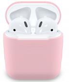 Чехол силиконовый для AirPods, розовый