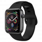 Apple Watch Series 5, 40 мм, корпус из алюминия «серый космос», спортивный браслет черного цвета