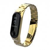 Браслет для Xiaomi Mi Band 3, блочный металлический, золотой