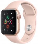 Умные часы Apple Watch Series 5, 40 мм, корпус из алюминия «розовый песок», спортивный ремешок розов