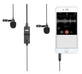 Микрофон двойной петличный со стереоразъемом Boya BY-M1DM