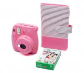 Фотоаппарат мгновенной печати Instax Mini 9 (+ альбом, катридж), розовый