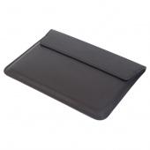 Чехол для Macbook 13 кожаный конверт, черный