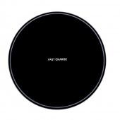 Беспроводное зарядное устройство Fast Charger, черный глянцевый