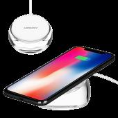 Беспроводное зарядное устройство Momax Q.DOCK CRYSTAL Fast Wireless Charger, прозрачный