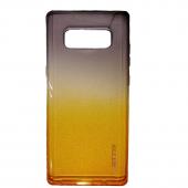 Чехол силиконовый градиент для Samsung Note 8, серо-оранжевый