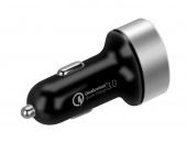 Автомобильное зарядное устройство Momax UC9 Dual USB Fast Charger 2.4A QC 3.0, черный