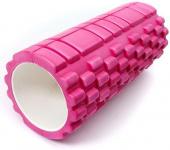 Валик для фитнеса массажный 30х10см, розовый